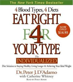 Eat Right for your Blood Type, found this very interesting. ..it's worth a shot!