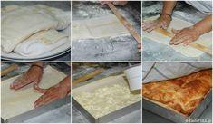 tiropita-makedoniki-sfoliata Pita Recipes, Greek Recipes, Greek Pita, Calzone, Pie Dish, Icing, Sweet Home, Food And Drink, Pizza