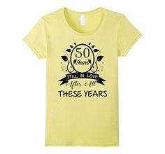 Women's 50th Wedding Anniversary T-Shirt Large Lemon