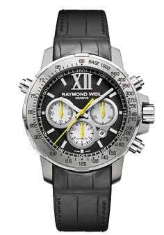 Nabucco  Mens Watch - Nabucco Steel and titanium Black dial rubber bracelet | RAYMOND WEIL Genève Luxury Watches #luxurywatch #raymondweil Raymond-Weil. Swiss Luxury Watchmakers watches #horlogerie @calibrelondon