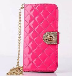 Rhombic Lattice Hawkeye iPhone 6S Plus/6 Plus/6S/6/SE/5S/5 Samsung Galaxy S6 Edge/S6/S5/S4/S3/Note 5/Note 4/Note 3 Wallet Stand Patent Leather Case