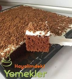 Üzeri Çikolatalı Pudingli Pasta