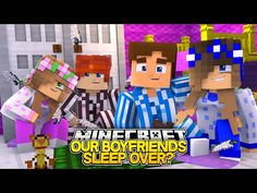 SNEAKING OUR BOYFRIENDS INTO OUR BEDROOMS!! w/Little Carly and Little Kelly (Minecraft Roleplay) - YouTube