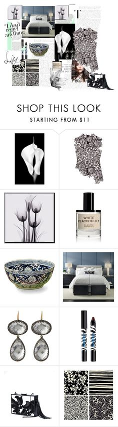 """""""White Lilies"""" by peppermax ❤ liked on Polyvore featuring self-portrait, D.S. & DURGA, Dessau Home, Mitchell Gold + Bob Williams, Larkspur & Hawk, Sisley, Monique Lhuillier and Thirstystone"""