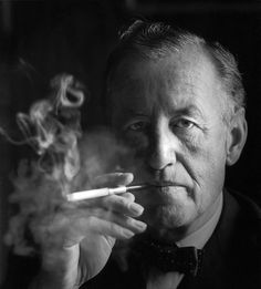 Ian Fleming (1908-1964) was an English author, journalist and naval intelligence officer, best known for the James Bond series of spy novels. Fleming came from a wealthy family connected to the merchant bank Robert Fleming & Co., and his father was the Member of Parliament for Henley from 1910 until his death on the Western Front in 1917. He was educated at Eton, Sandhurst and the universities of Munich and Geneva. He is seen here in an iconic photograph by Horst Tappe.