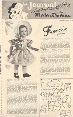 PAR AMOUR DES POUPEES :: M&T 1953-12 robe de style romantique pour Françoise (couture)