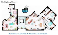 Famous TV Show Floor Plans From HGTV's Design Happens Blog (http://blog.hgtv.com/design/2013/03/06/daily-delight-famous-tv-show-floor-plans/?soc=pinterest)