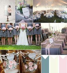 dusty grey and pink wedding ideas 2014