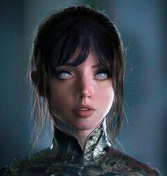 Blade Runner 2049 Ana De Armas Artwork In Resolution Hinata Hyuga, Naruhina, Boruto, Character Portraits, Character Drawing, Film Anime, Anime Art, Blade Runner, Zooey Deschanel
