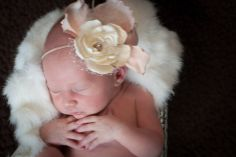 Baby girl infant portraits by K. Shannon Creative