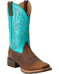 Ariat Women's Hybrid Rancher Cowgirl Boots - Square Toe - Sheplers