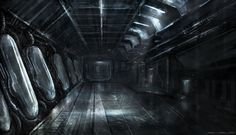 Underground bunker holding stasis pods-- they look like Alec's castle. (Credit to Darkcloud013 on DeviantArt.)