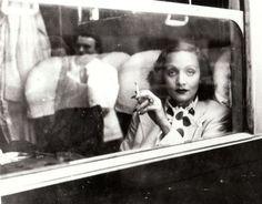 Marlene Dietrich - on a boat in