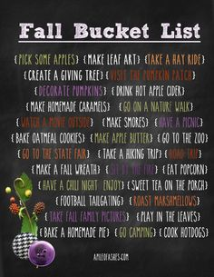 Fall Bucket List {2013} Free Printable | From www.apileofashes.com