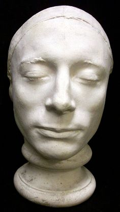 Keats, John, 1795-1821  life mask by Benjamin Robert Haydon, from the original in National Portrait Gallery, London. See Hutton, PORTRAITS..., pp. xv, 105-10; Moore, TALKS..., pp. 176, 177. [Scribner Room]