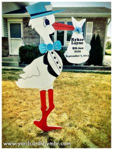 Yard Cards By MBR Welcome Home Baby Signs For Northwest Indiana