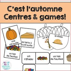 Check out a variety of French resources with fall themed vocabulary! Great for teaching fall vocabulary to Core French and French Immersion students! Spanish Teaching Resources, French Resources, Learning Spanish, Spanish Activities, Learning English, Spanish Lessons, Ways Of Learning, Learning Italian, French Teacher