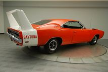 1969 Dodge Charger Daytona. Beautiful color with a 4ft. high wing off the back straight from the factory!?