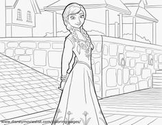 Frozen: Ana Free Coloring Pages.