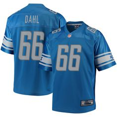Joe Dahl Detroit Lions NFL Pro Line Big   Tall Player Jersey – Blue 0ec546ee0