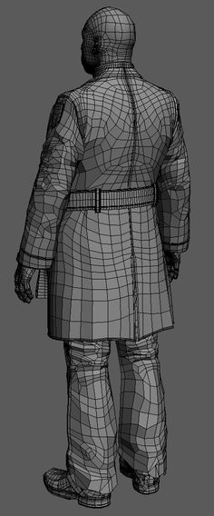 Another example of what I'm hoping is good cloth topology.  I will be paying attention to the layering setup here as well.