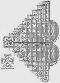Schemi gratis da realizzare a Filet Punto Croce Maglia Uncinetto e Ricamo Crochet Doily Diagram, Filet Crochet Charts, Crochet Doily Patterns, Crochet Shawl, Crochet Designs, Crochet Doilies, Knit Crochet, Crochet Books, Crochet Home