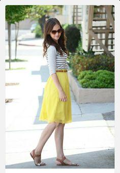 Casual, yellow skirt