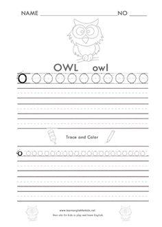 Trace the Alphabet worksheet printable for kids letter o