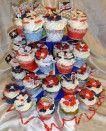 Union Jack flower Jubilee Cupcakes