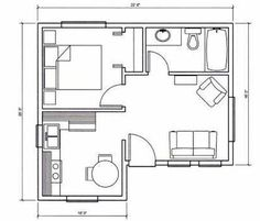 12x16 Tiny House -- #12X16H6 -- 367 sq ft - Excellent Floor Plans ...