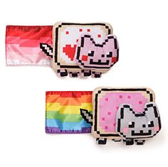 ThinkGeek :: Gund Nyan Cat 6 inch Plush with Sound::Plays the nyan cat theme when you squeeze it
