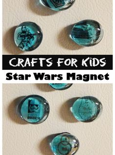 Quick and Easy Crafts for Kids - Star Wars Magnets                                                                                                                                                                                 Más