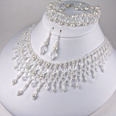 Statement Bridal Jewelry Set Swarovski Oval by TwoBeWedJewelry