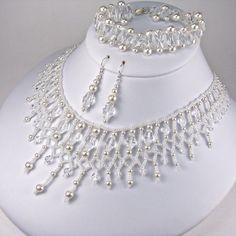 Statement Bridal Jewelry Set Swarovski Oval by TwoBeWedJewelry