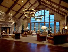 Colorado-3.  Love all the warm wood, vaulted ceiling, fireplace & large view window to take in God's beauty.