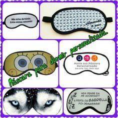 Máscaras de dormir personalizadas.