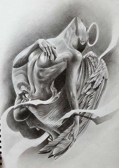 551a0f942 Dark Tattoo, Big Tattoo, Grey Tattoo, Tatoo, Tattoo Sketches, Tattoo  Drawings