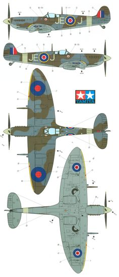 Here is our Supermarine Spitfire Mk.IX RAF Camouflage Color Profile and Paint Guide.