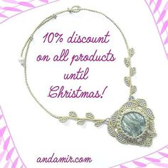 Don't miss it on andamir.com #sale #andamir #discount #christmas #christmasgift #gifts #giftforher #jewelry #jewellery #handmade #handcrafted #instalike #instagood #leaves #necklace