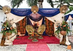 A #beautiful #traditional decoration for the happy couple to sit. #tradition #culture #east #igbowedding #igboland #eikonworld #colours #wedding #decoration #eventdecor  #events #Throwback #tbthursday