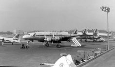 Chicago Midway Airport - Capital Airlines - Lockheed Constellation ca. 1955 Photo by Pat B