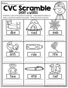 Worksheet Kindergarten Cvc Worksheets winter printables free classroom reading language arts cvc scramble unscramble the words to make a word that matches picture