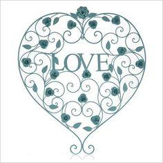 Metal Love Heart Wall Art by Stoneleigh & Roberson