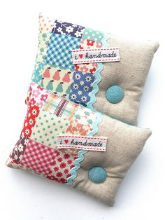Zakka Style Pin Cushions by Flying Blind On A Rocket Cycle, via Flickr