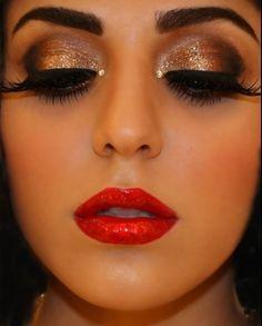 Burlesque makeup very glitzy i can do this