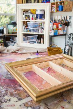 @Mark Van Der Voort Van Der Voort Steines  builds a makeup vanity by reusing a picture frame!