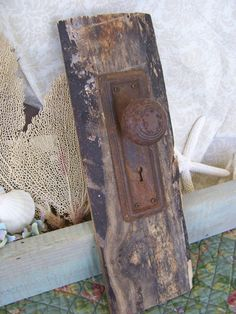 Panel for knobs...handles   Upcycled Wood Pallet Plank Primitive Vintage Door by Jenz4seasons, $22.99