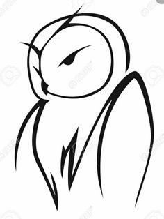 Owl Stencil, Stencils, Lechuza Tattoo, Owl Pictures, Owl Pics, Owl Tattoo Drawings, Jagua Henna, Wood Badge, Owl Vector