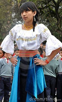ECUADORIAN WOMEN IN TRADITIONAL DRESS