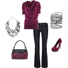 cute outfit- @Angie Ginn Faro this outfit even has a Miche purse